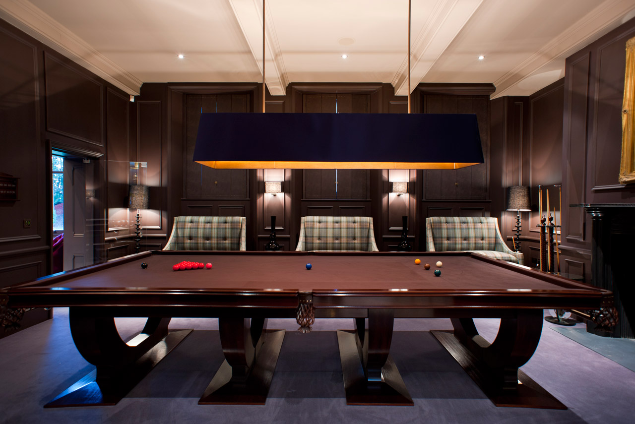 Snooker room project and apartment project by camacre for Pool room design uk
